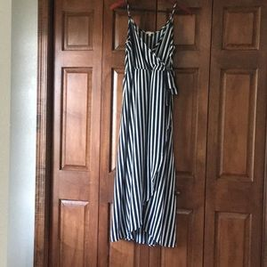 Dresses & Skirts - Navy and white striped dress